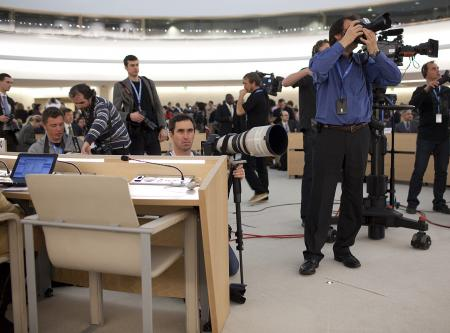 Journalists at the UN ©Christian Lutz
